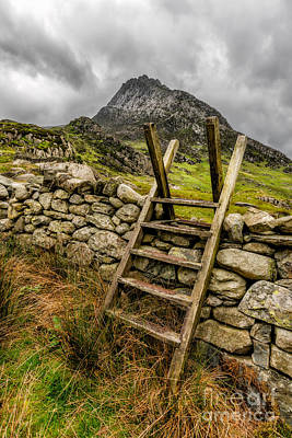 View Of Tryfan  Poster by Adrian Evans