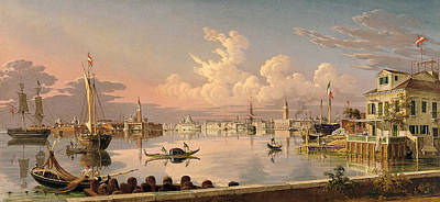 View Of Venice Poster by Robert Salmon