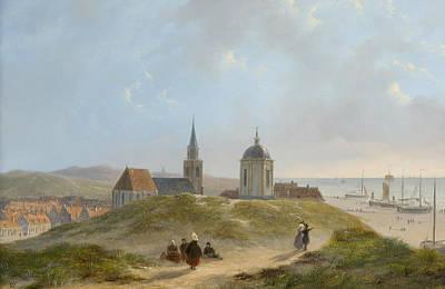 View On Scheveningen Poster by Bartholomeus van Hove