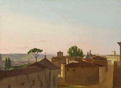 Poster featuring the painting View On The Quirinal Hill. Rome by Simon Denis