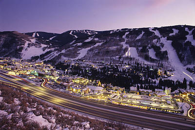 View Over I-70, Vail, Colorado Poster by Michael S. Lewis
