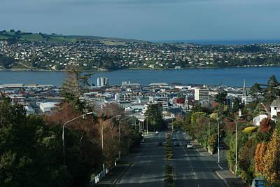 View Stuart St To Waverly Dunedin Nz Poster by Terry Perham