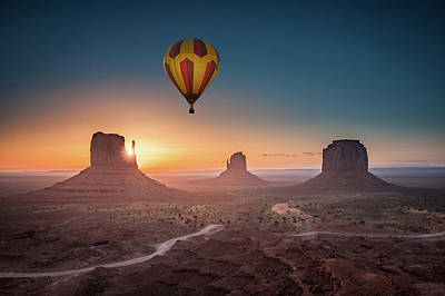 Viewing Sunrise At Monument Valley Poster