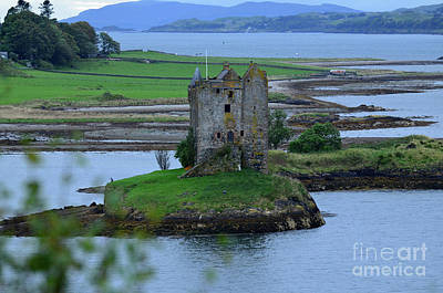 Views Of The Ruins Of Castle Stalker In Scotland Poster by DejaVu Designs