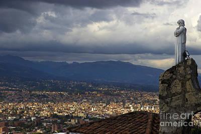 Vigil Over Cuenca From Turi Ecuador II Poster by Al Bourassa
