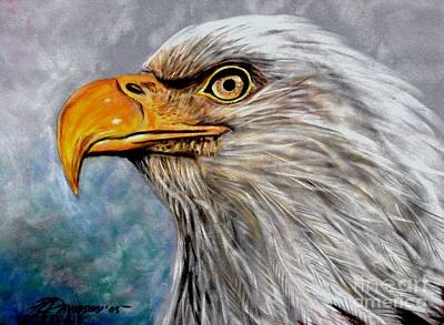 Poster featuring the painting Vigilant Eagle by Patricia L Davidson