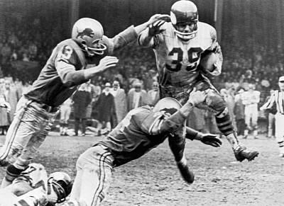 Viking Mcelhanny Gets Tackled Poster by Underwood Archives