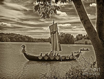 Viking Ship Marsh Creek State Park Poster by Jack Paolini