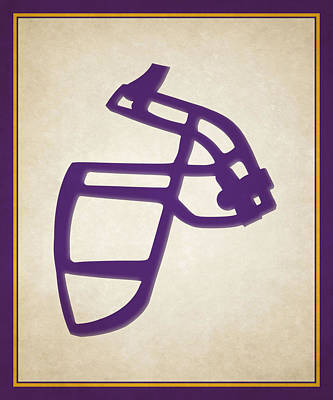 Vikings Face Mask Poster by Joe Hamilton