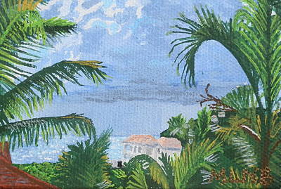 Villa In Guana Bay Poster by Margaret Brooks