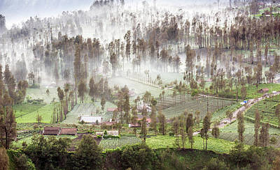 Poster featuring the photograph Village Covered With Mist by Pradeep Raja Prints