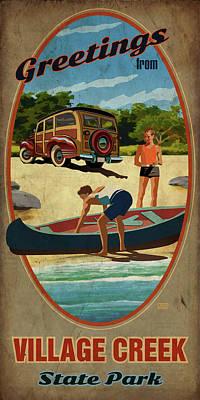 Village Creek State Park Poster by Jim Sanders