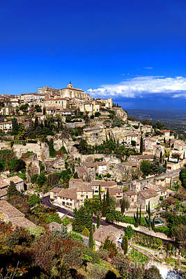Village Of Gordes In Provence Poster by Olivier Le Queinec