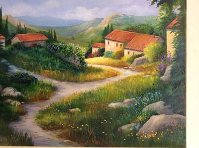 Village Path, Provence France Poster
