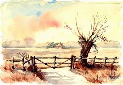 Village Scene IIi Poster