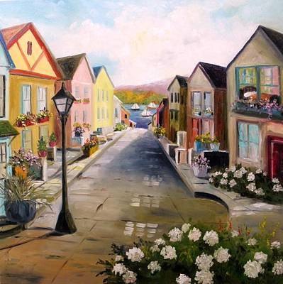 Poster featuring the painting Village Street by John Williams