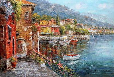 Villaggio Di Varenna, Lake Como, Italy Poster by Luigi Paulini