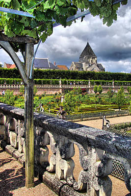 Villandry From The Chateau Poster by Nikolyn McDonald