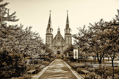 Villanova Cathedral In Sepia Poster
