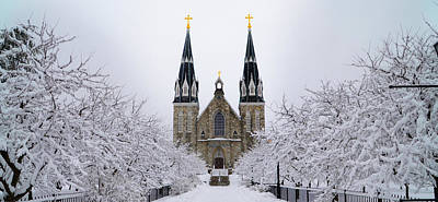 Villanova University After Snow Fall Poster