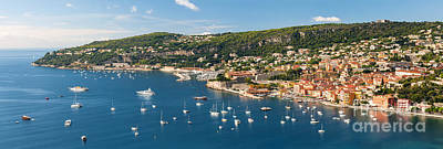Villefranche-sur-mer And Cap De Nice On French Riviera Poster