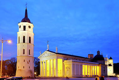 Poster featuring the photograph Vilnius Cathedral by Fabrizio Troiani