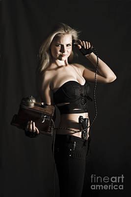 Vintage Female Spy Poster