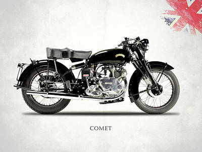 Vincent Comet Series C Poster by Mark Rogan