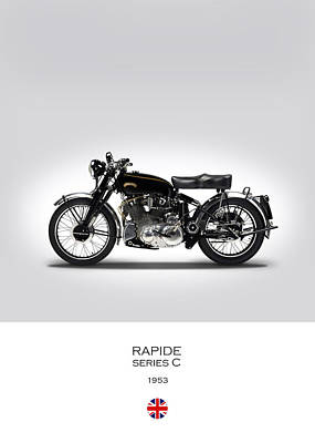 Vincent Rapide 1953 Poster by Mark Rogan