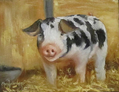 Poster featuring the painting Vindicator The Spotted Pig by Cheri Wollenberg