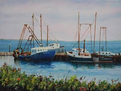Vineyard Harbor 9 Poster by Michael McGrath