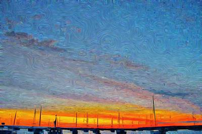 Vineyard Haven Harbor Pano Dawn 1 Poster by Jeffrey Canha