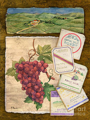 Vineyard View I Poster by Paul Brent
