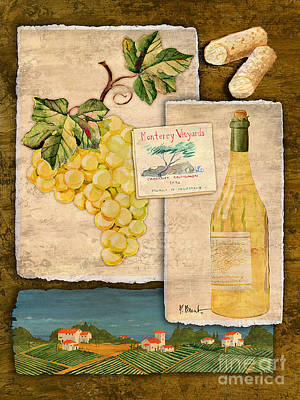 Vineyard View II Poster by Paul Brent