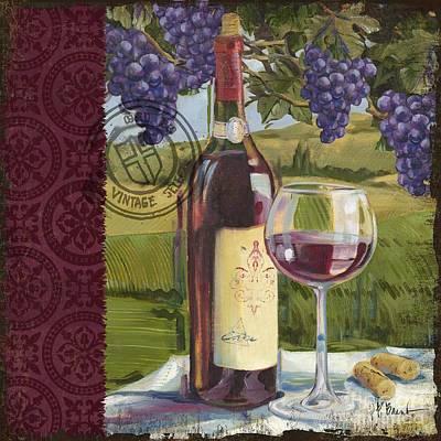 Vineyard Wine Tasting Collage I Poster