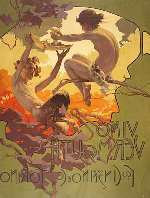 Vino Vermouth Fco. Cinzano E C Poster