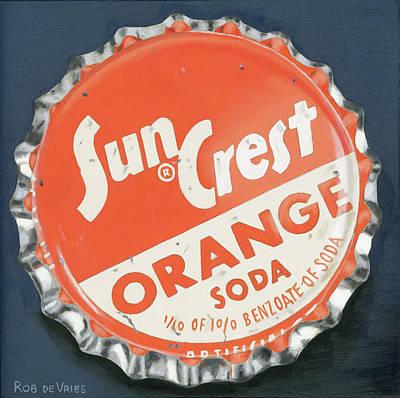 Vintag Bottle Cap, Sun Crest Poster