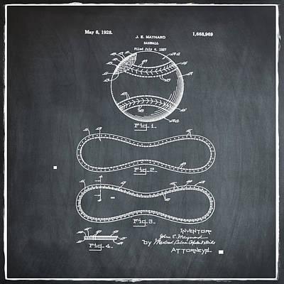 Vintage 1928 Baseball Patent Chalk Poster