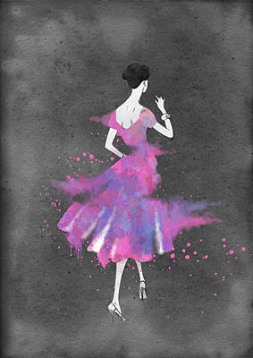 Vintage 1950s Dress Pattern Petite Bust 2 Poster by Diana Van