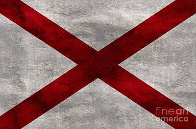 Vintage Alabama Flag Poster
