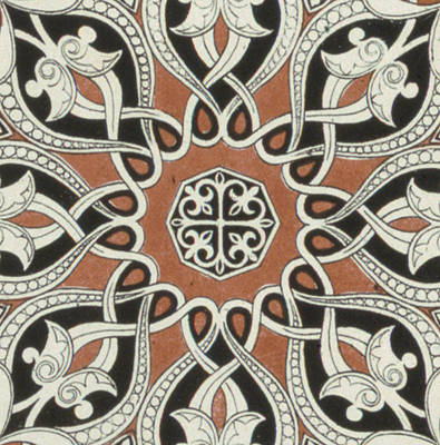 Vintage Arabian Textile Pattern Design Poster