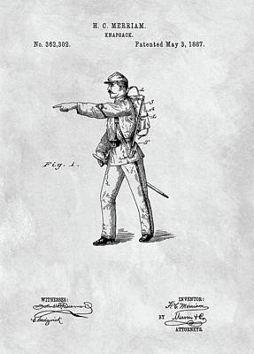 Vintage Army Backpack Patent Poster by Dan Sproul