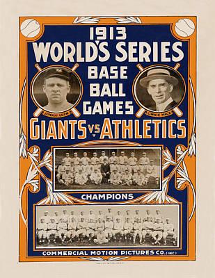 Vintage Baseball 1913 Poster