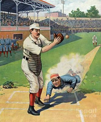 Vintage Baseball Art Poster by Pd
