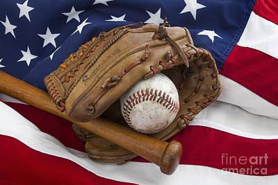 Vintage Baseball Poster by Simon Kayne