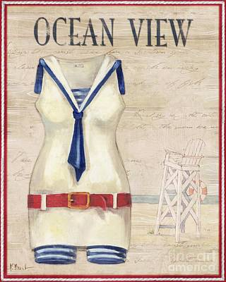 Vintage Bathing Suits IIi Poster by Paul Brent