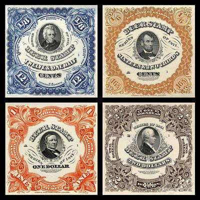 Vintage Beer Taxation Stamps  Poster