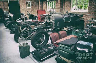 Vintage Bentley Restoration Workshop Poster