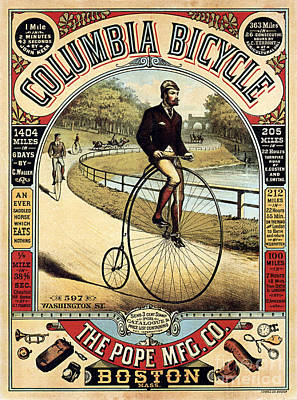 Vintage Bicycle Advertisement Poster by Jon Neidert