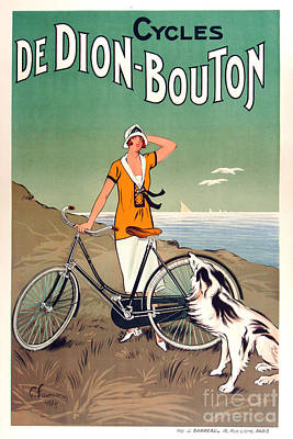 Vintage Bicycle Advertising Poster by Mindy Sommers